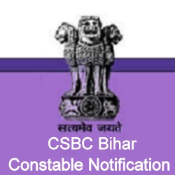 CSBC Bihar Constable Notification
