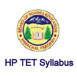 HP TET Syllabus 2019