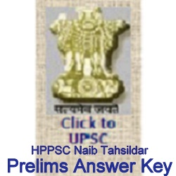 HPPSC Naib Tahsildar Prelims Answer Key