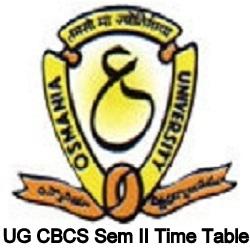 OU CBCS Sem II Time Table
