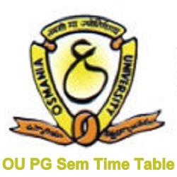 OU PG Time Table 2020