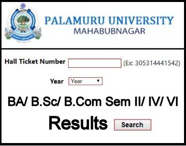 Palamuru University Degree Results 2020