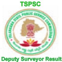 TSPSC Deputy Surveyor Result 2021