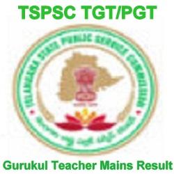 TSPSC Gurukul Teacher Mains Result