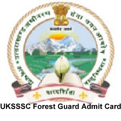 UKSSSC Forest Guard Admit Cards 2021