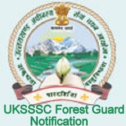 UKSSSC Forest Guard Vanrakshak Notification