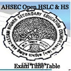 Assam HSLC HS Exam Time Table