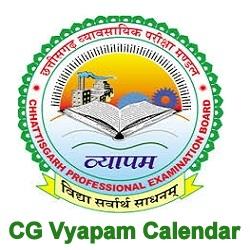 CG Vyapam Calendar 2019