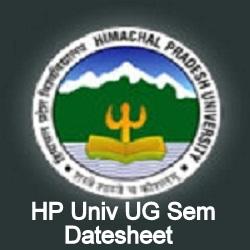 HPU Date Sheet 2020