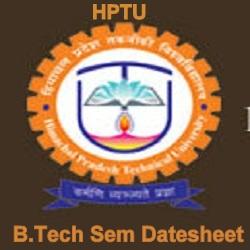 HPTU B.Tech Date Sheet 2021