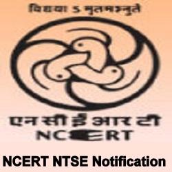 NCERT NTSE Notification