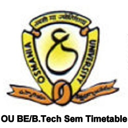 OU BE Time Table 2020