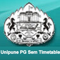 Unipune PG Time Table 2019