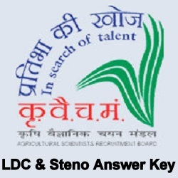 ASRB LDC & Stenographer Answer Key
