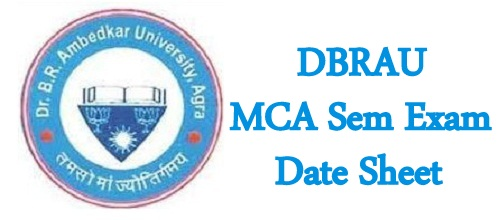 DBRAU MCA Sem Exam Date sheet