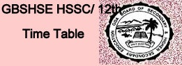 Goa Board HSSC Time Table 2022