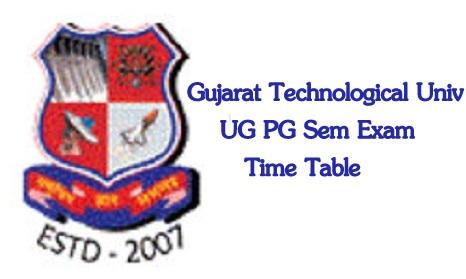 GTU Exam Time Table Summer 2020
