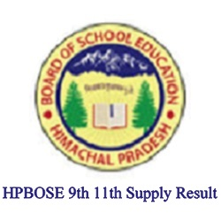 HPBOSE 9th 11th Supply Result