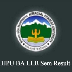 HPU BA LLB Sem Result