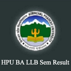 HPU BA LLB Result 2020