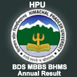 HPU BDS MBBS BHMS Annual Result 2019