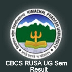 HPU CBCS RUSA 1st 3rd 5th Sem Result 2017