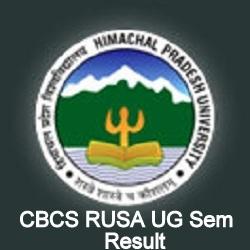 HPU CBCS RUSA Result 2019