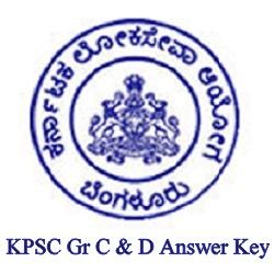 KPSC Gr C & D Answer Key