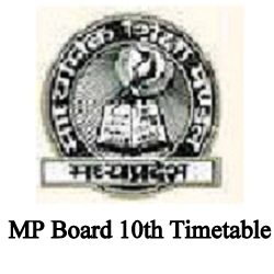 MP Board 10th Time Table 2022
