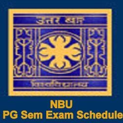 NBU PG Exam Schedule 2021