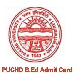 PUCHD B.Ed Admit Card 2020
