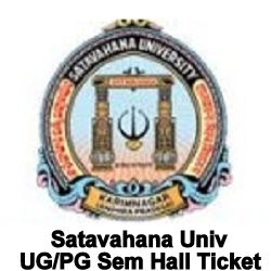 Satavahana University Hall Ticket 2021