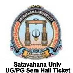 Satavahana University Hall Ticket 2020