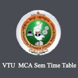 VTU MCA Time Table 2020