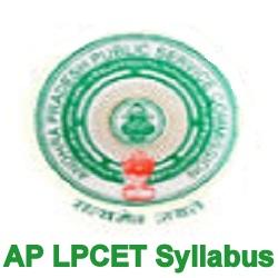AP LPCET Syllabus 2020