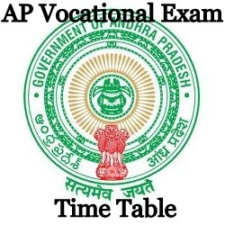 AP Vocational Exam Time table 2021