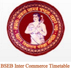 BSEB Inter Commerce Timetable