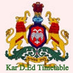 Kar D.Ed 1/2 Timetable