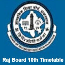RBSE 10th Time Table 2022