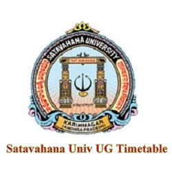 Satavahana Univ UG Timetable