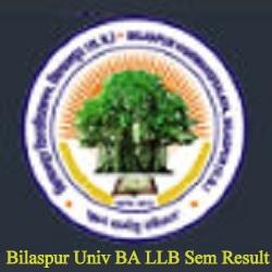 Bilaspur University BA LLB Result 2021