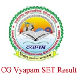 CG Vyapam SET Result