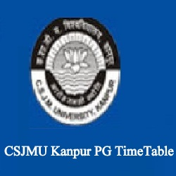 CSJMU Kanpur PG TimeTable