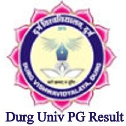 Durg University PG Result 2021