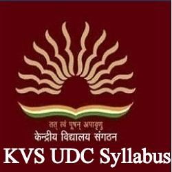 KVS UDC Syllabus