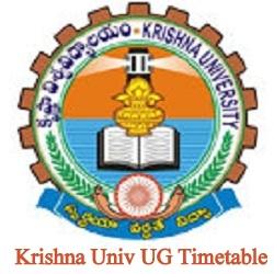 Krishna University Degree Time Table 2020