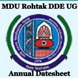 MDU DDE Date Sheet 2021