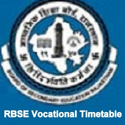 RBSE Vocational Timetable