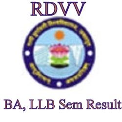 RDVV BA LLB Result 2020