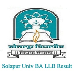 Solapur Digital University BA LLB Result 2021